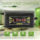 12V 6A car motorcycle battery charger with LCD Display Smart fast charger