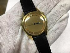 Vintage Zodiac Olympos Gold Tone Mystery Dial Automatic 17J Watch