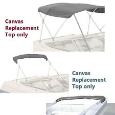 "BIMINI TOP BOAT COVER CANVAS FABRIC GREY W/BOOT FITS 4 BOW 96""L 54""H 73""-78""W"