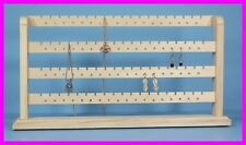 ** Natural Unfinished Wood 148 Pc Earring Bracelet Jewelry Rack Display NEW **