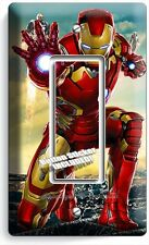 IRONMAN SUPERHERO SINGLE GFI LIGHT SWITCH WALL PLATE COVER BOYS BEDROOM IRON MAN