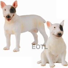 *NEW* CollectA 88384 88385 Bull Terrier Male & Female Dog Group - Set of 2