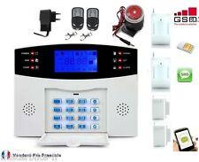 Kit Alarme de Maison téléphonique GSM SIM sans fil Evolutif 2 zones 2D+2O