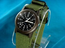 VINTAGE LOOK TIMEX MENS MILITARY STYLE 24 HOUR WATCH