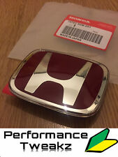 NEW GENUINE HONDA INTEGRA DC5 TYPE R REAR BOOT RED BADGE EMBLEM 00-04 UK JDM
