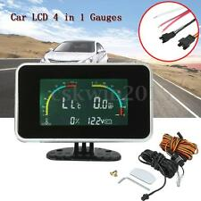 Car Auto 4 in 1 LED Digital Water Temperature/Oil Pressure/Fuel/Voltmeter Gauges