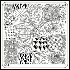 MoYou Nail Fashion Square Stamping Image Plate 514 Glam Style