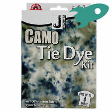 Jacquard Camo Tie Dye Kit Dyes upto 4 Shirts Fancy Dress Party Camouflage
