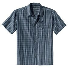 Jack Wolfskin Herrenhemd Mount Kenya Shirt Men, Gr. M, dark blue checks