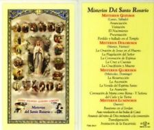 Misterios Del Santo Rosario Holy Card and Devotional Prayer