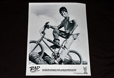 RAD 1986 Cru Jones on logpile BMX bike movie photo art print poster 80s Mongoose