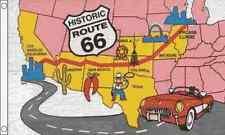 Route 66 12.7cmx7.6cm Drapeau Amérique États-unis Highway