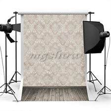 3x5ft Solid Color Damask Vinyl Photography Backdrop Studio Background Prop Cloth