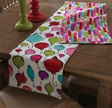 Baublez Ornaments Paint Christmas Holiday Reversible Table Runner