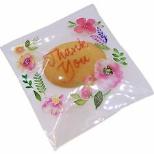 Thank You Flower Bags for Candy Cookie Soap Gift Packaging , Wholesale Lot of 95