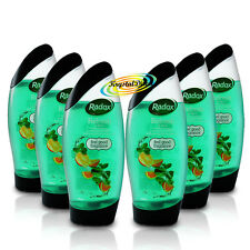 6x Radox 2 in 1 Refresh Therapy Shower & Shampoo 250ml - Eucalyptus & Citrus Oil