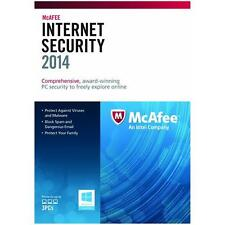 McAfee Internet Security 2014 / 20015 1 Anno 3 Utente Pc antivirus software RRP £ 50