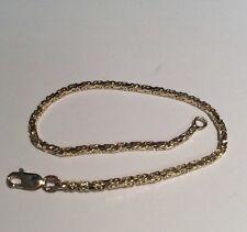 """Estate 14k Solid Yellow Gold Super Link Bracelet, 5.2g, 7.5"""" !!!"""