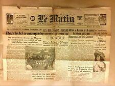 """JOURNAL DE LA COLLABORATION """"LE MATIN"""" N° 21753 / MARS 1944 +++"""