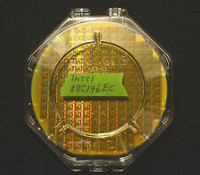 "6"" Silicon wafer - Intel 88C196EC CPU wafer with clear clamshell shipper case."
