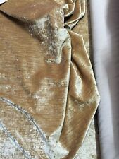 22 Metre Antique GOLD Crush Velour Velvet Upholstery Furnishing Fabric Roll-XH21