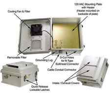 14x12x7 Heated / Fan Enclosure Cabinet Box w/ Cooling Fan & Heat Controller AC