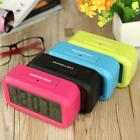 Digital Alarm LED Clock Light Control Backlight Time Calendar Thermometer