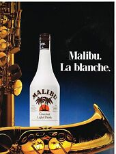 Publicité Advertising 1988 Liqueur Malibu Coconut Light Drink