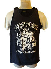 OBEY posse tank top shirt 1989 small rat possum fink sleeveless billard pool