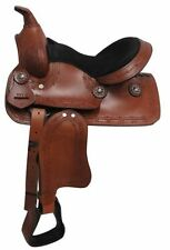 "12"" Economy Pony/Youth saddle with barbed wire design"
