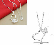 DISCOUNT WHOLESALE XMAS GIFTS SOLID SILVER JEWELRY NECKLACE PENDANT HOT