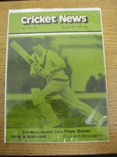 05/08/1978 Cricket News: Vol.02 No.14 - A Weekly Review Of The Game, Schweppes &