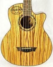 Dean EAB Exotica Zebrawood 4-String Acoustic Electric Bass - Natural