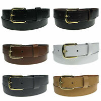 """New Genuine Full Grain Mens Leather Belt 1"""" wide sizes 28""""-44"""" Made in the UK"""