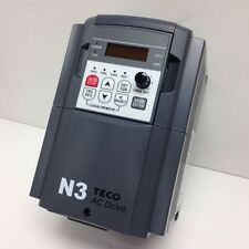 1/2 HP 230V 1PH IN 230 3PH OUT FREQUENCY DRIVE TECO N3-2P5-CS MODEL