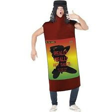 Mens Adult Really Hot Sauce Fancy Dress Costume Reggae by Smiffys