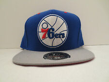 MITCHELL & NESS NBA PHILADELPHIA 76ERS 2 TONE BASIC FITTED CAP HAT SIZE 7 7/8