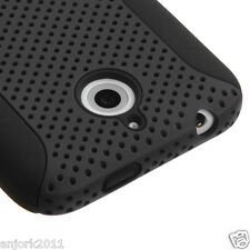 HTC Desire 510 Hybrid Mesh Case Perforated Skin Cover Black