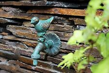 Wall Mounted Basin Tap Green Pigeon Decorative Solid Brass Garden Outdoor Faucet