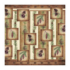 "Pine Cone/Nature 70"" Fabric Bath Shower Curtain Rustic Bathroom Home/Cabin Decor"