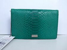 New Lodis Healdsburg Monique Slim Leather Crossbody Bag Clutch Emerald $118