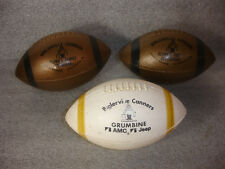 Old Vtg Plastic Football (3) LOT Biglerville Canners Grumbine AMC Jeep PA