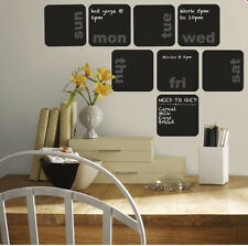 DAYS OF WEEK PLANNER chalkboards wall sticker 8 decals calendar chalk blackboard