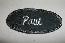PAUL USED EMBROIDERED VINTAGE SEW ON NAME PATCH TAGS ASSORTED COLORS AVAILABLE