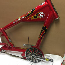 Schwinn OCC Chopper Stingray Bicycle Part- Bike Frame Red Black/Yellow Flame