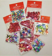 RED PARTY MIX Sequins Australia Day Valentine learn to bead arts DIY crafts 10pk