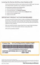 Norton AntiVirus 1PC 1 Year Product Key Card Free Upgrade