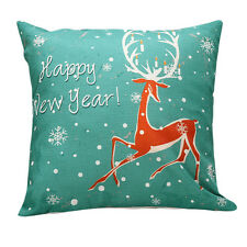Christmas Cute Beer Sofa Bed Home Decor Pillow Case Cushion Cover Green Case