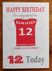 "ARSENAL FAN Unofficial PERSONALISED Football Birthday Card (""THE GUNNERS"")"