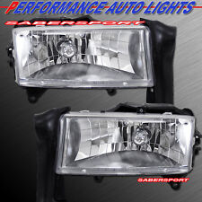97-04 DODGE DAKOTA 98-03 DURANGO EURO CLEAR HEADLIGHTS PAIR BULBS INCLUDED